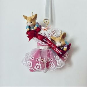 3/$25 Sister To Sister Cute Mice AGC Ornament NEW